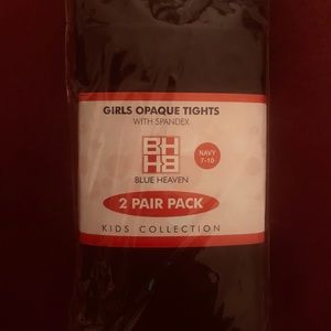 Other - Brand NWT- Girls Navy Tights